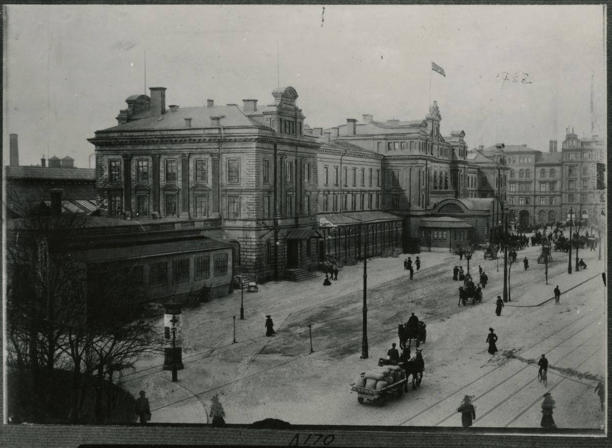 Stockholms Central sedd från Vasagatan.