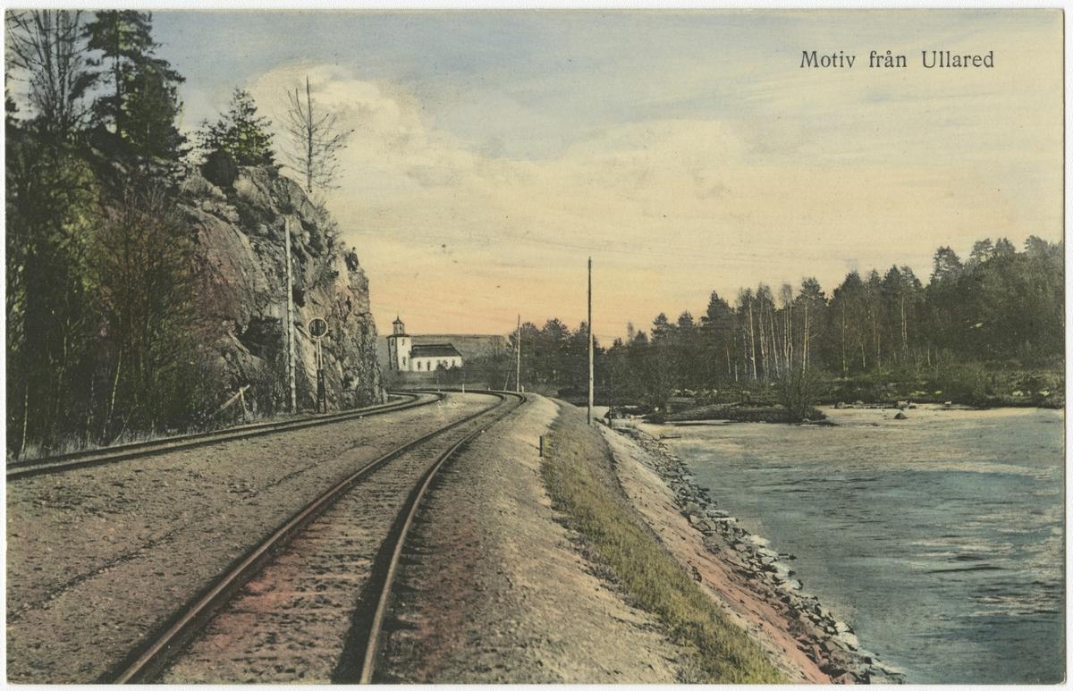 Bild från linjen, strax utanför Ullared.