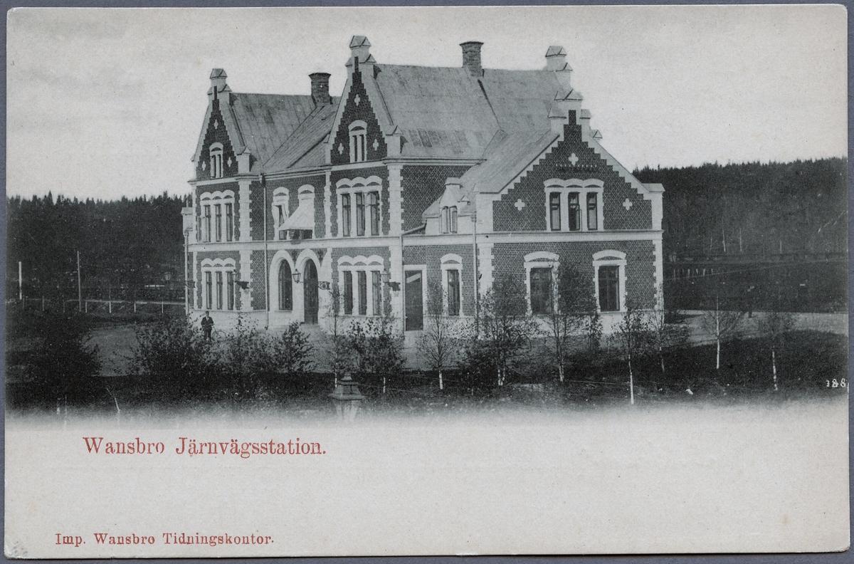Vansbro järnvägsstation.