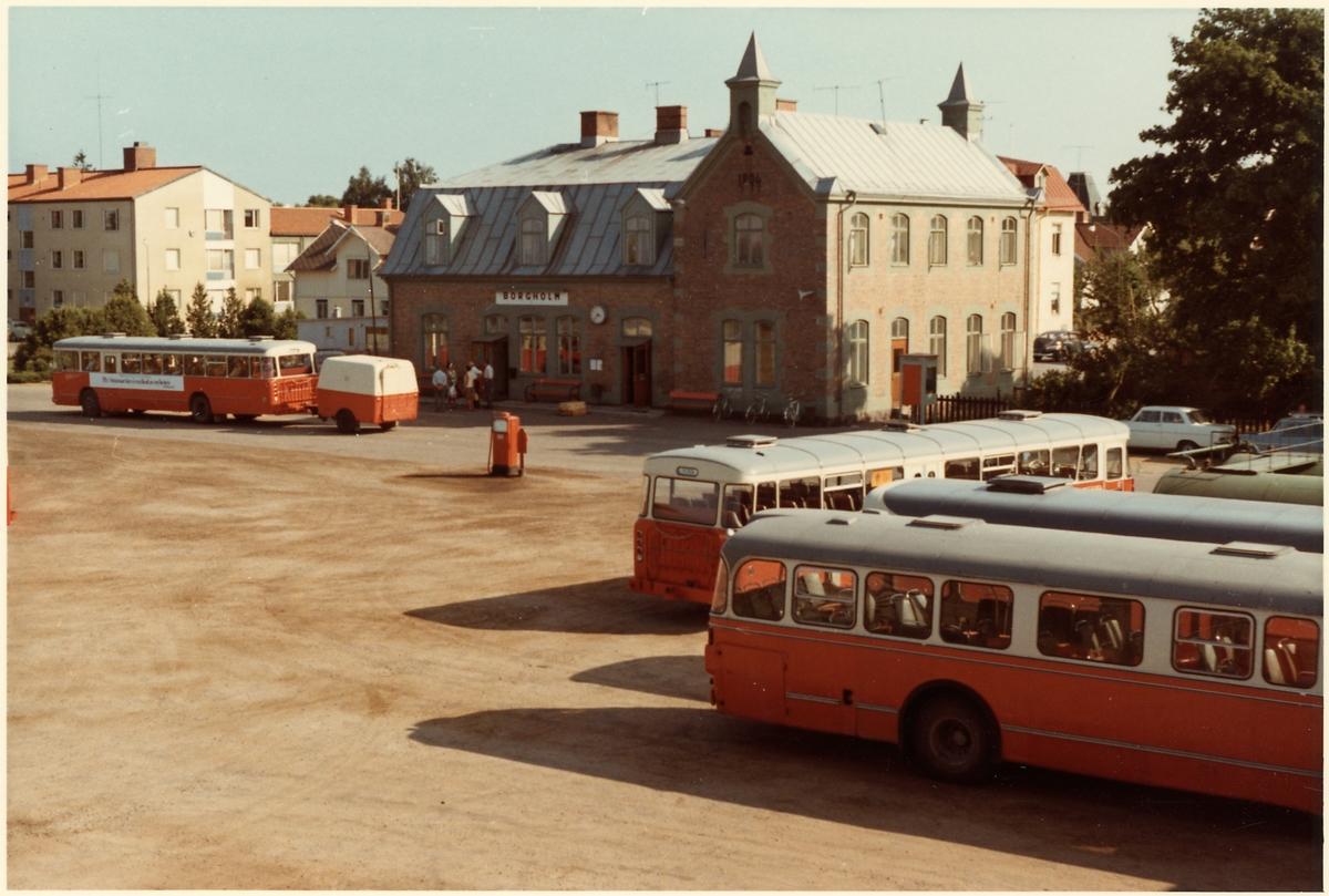 Statens Järnvägar, SJ Busstation i Borgholm.