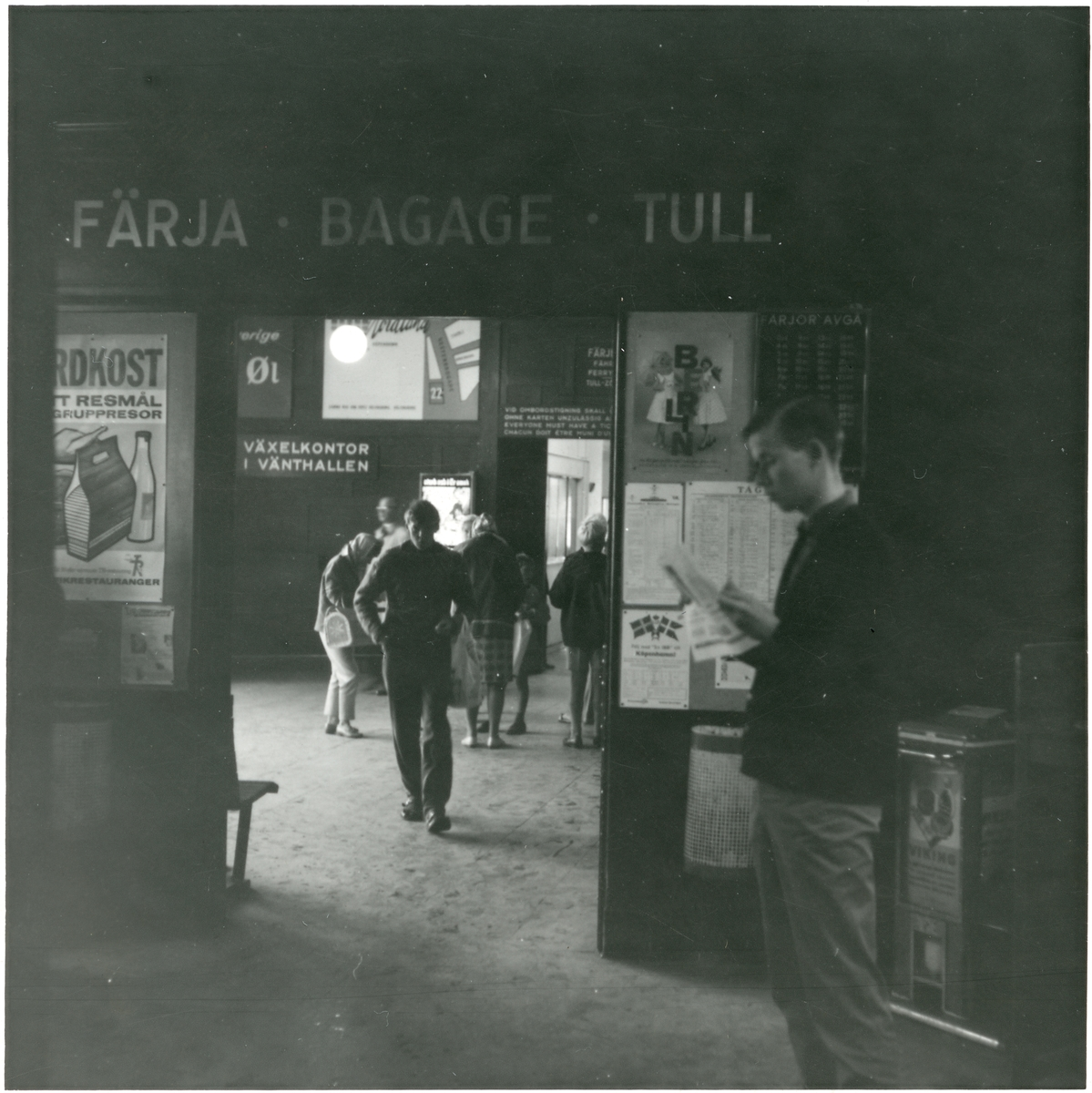 Helsingborg F (färjestation). Interiör från stationshuset.