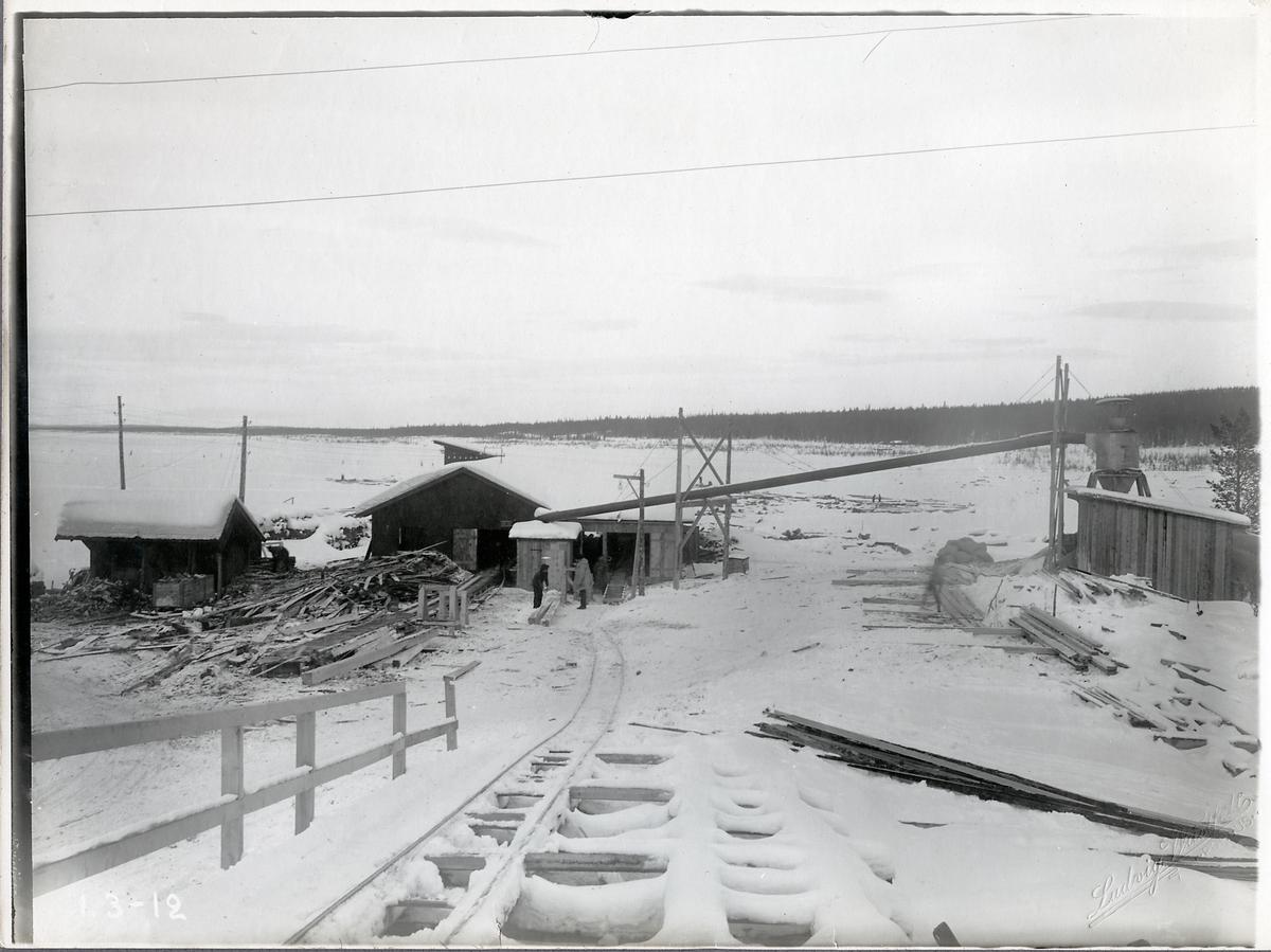 Porjus kraftverks båda sågar, 1912.
