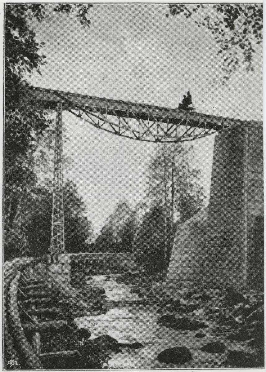 Järnvägsbron vid Utansjö. På linjen mellan Härnösand - Sollefteå