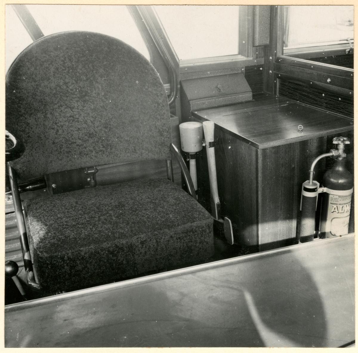 Interiör från buss.