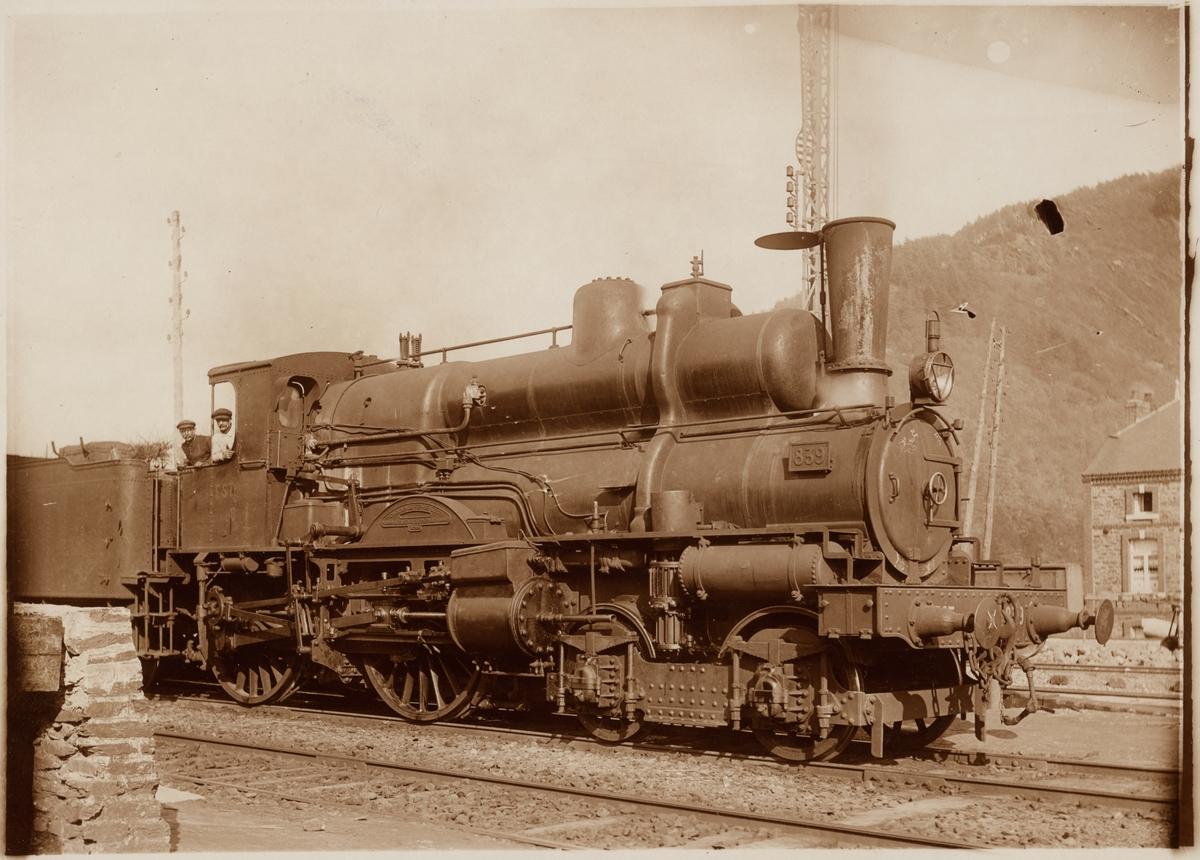 Personal på ånglok Compagnie des chemins de fer de l'Est, EST 839.