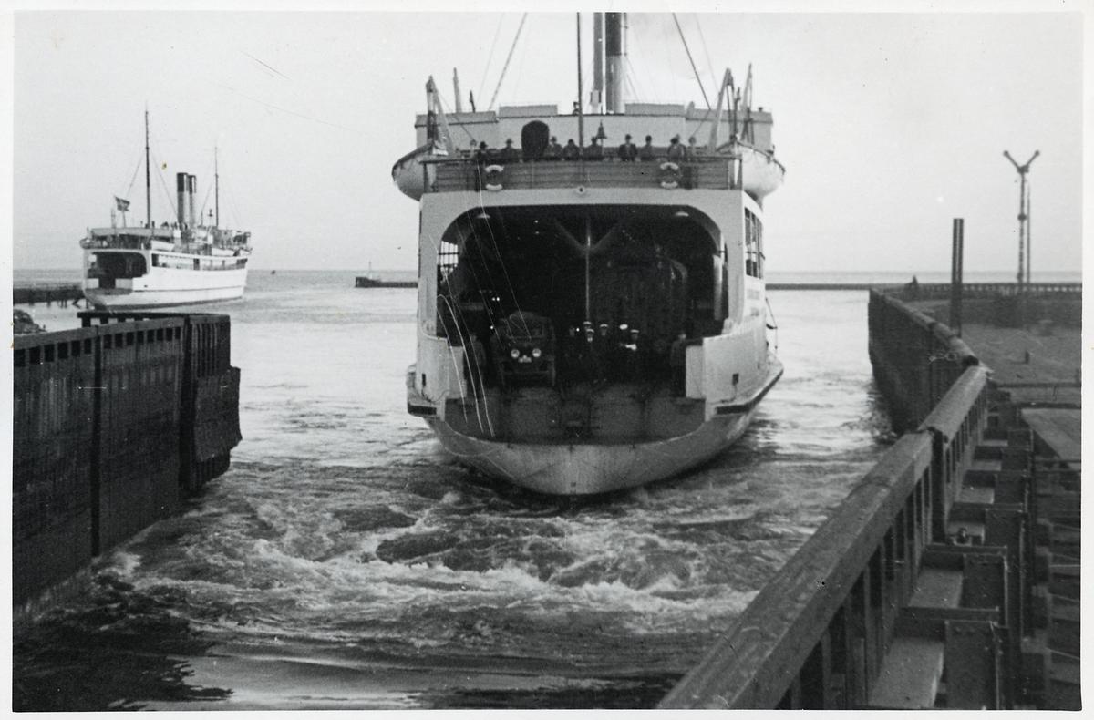 Tågfärja i Trelleborgs hamn.