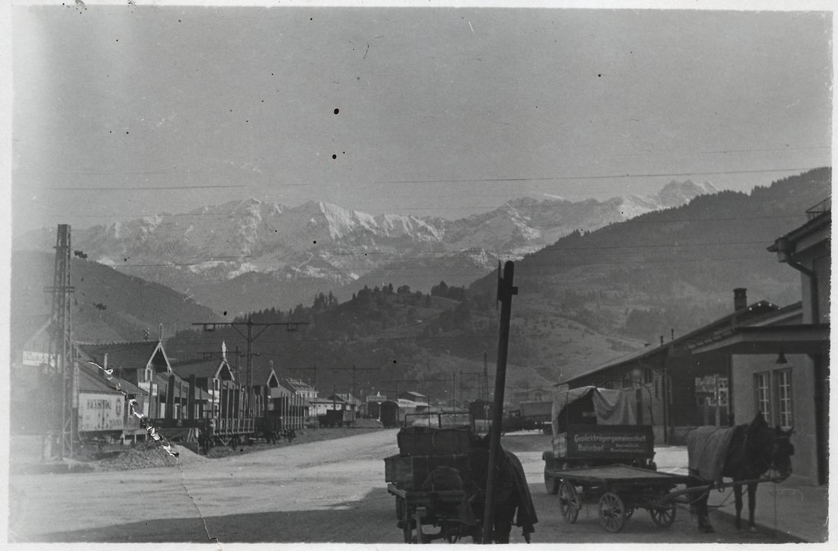 Järnvägsstationen i Garmisch.