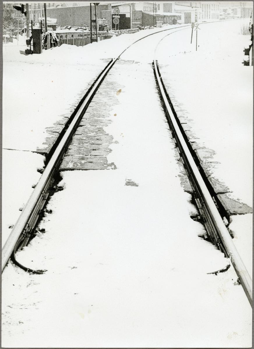 Del av järnvägsspår i Blötberget.