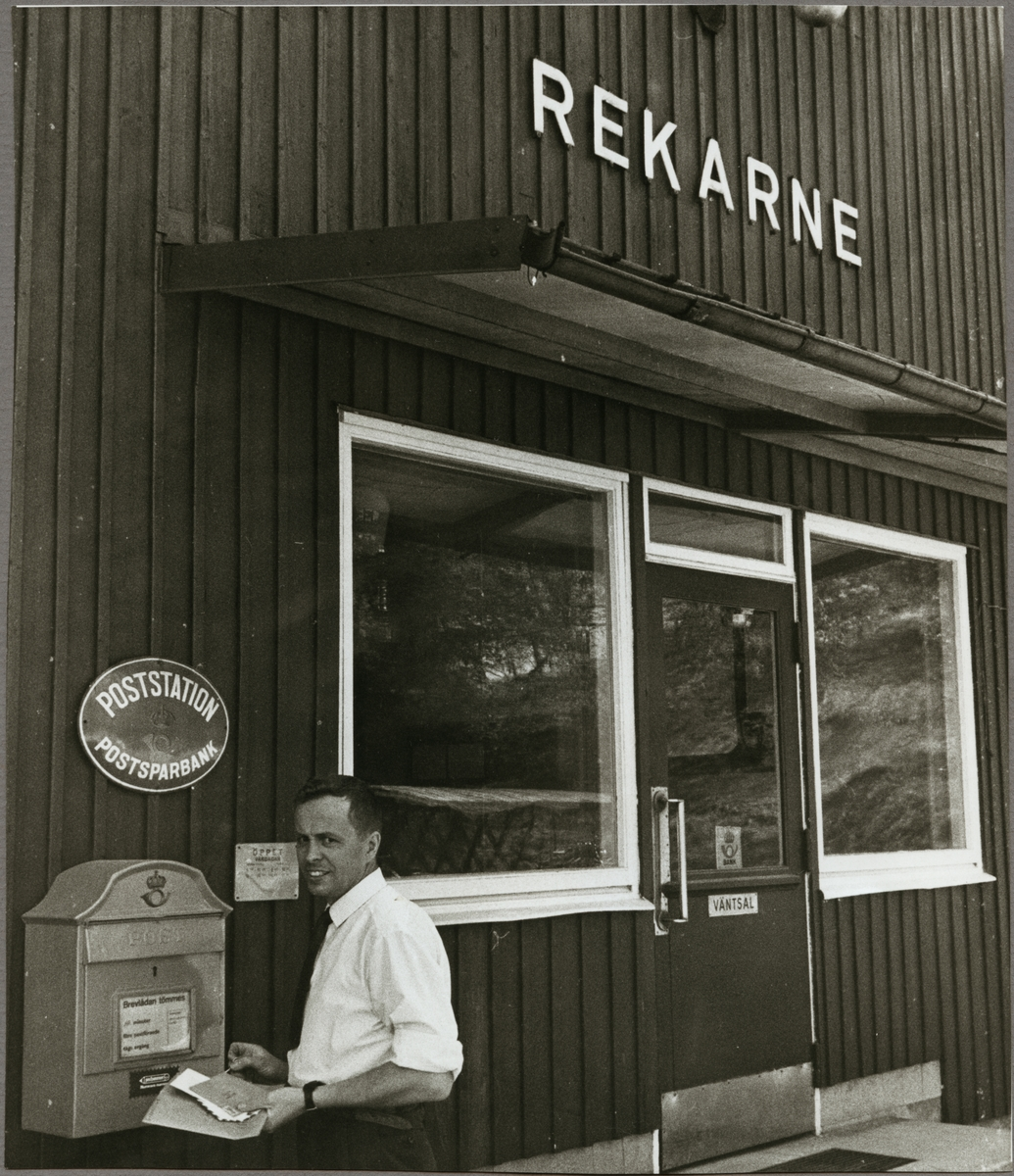 Posthantering, Rekarne stationshus.