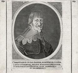 CHRISTIANVS IV. D;G. DANIÆ, NORWEGIÆ VANDA [...] [kobberstik