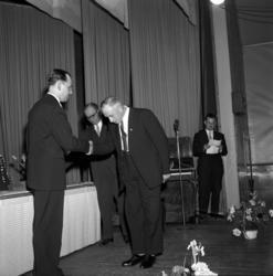 Medaljutdelning till SCA-veteraner i Njurunda Folkets hus.