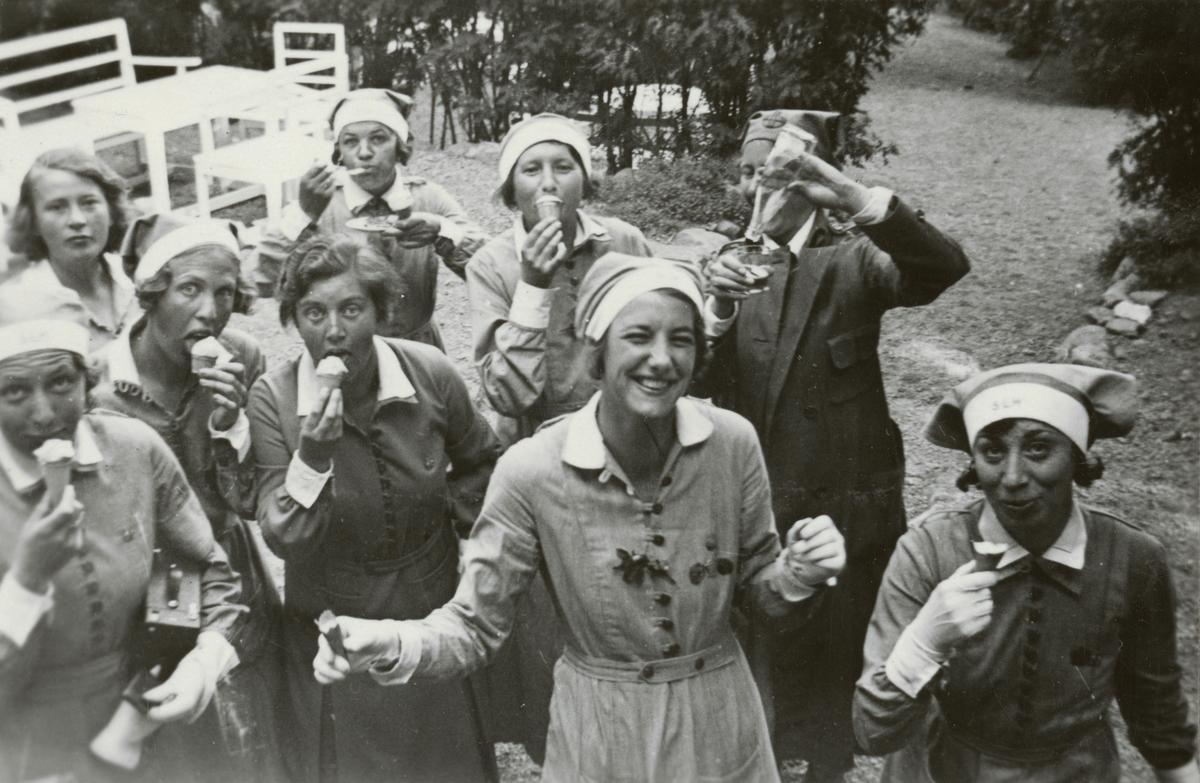 Lottakursen i Sigtuna, juni 1934.