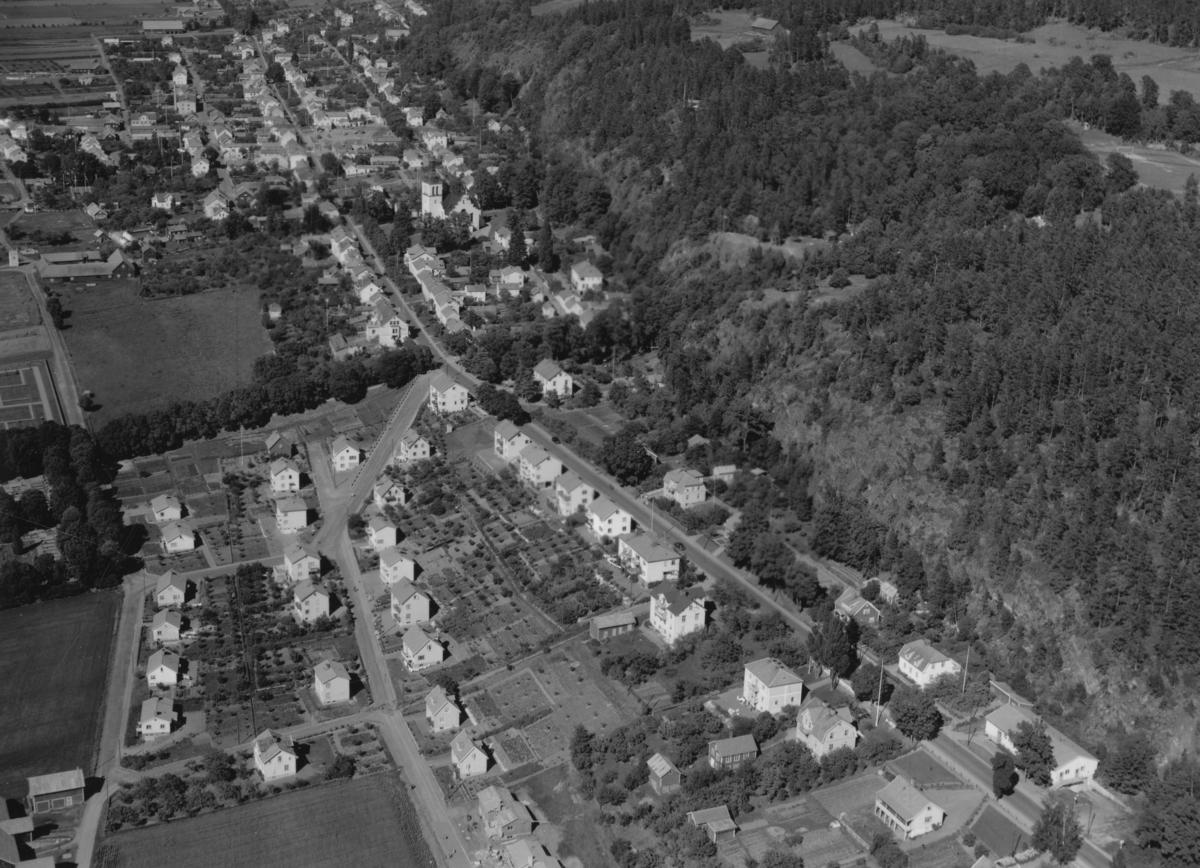 Flygfoto över Gränna i Jönköpings kommun. Nr N 227