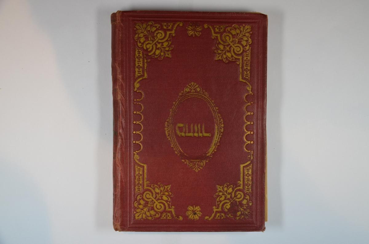 Rødt omslag med gullskrift. Utgitt i Warszawa, 1917. Hebraisk tekst.