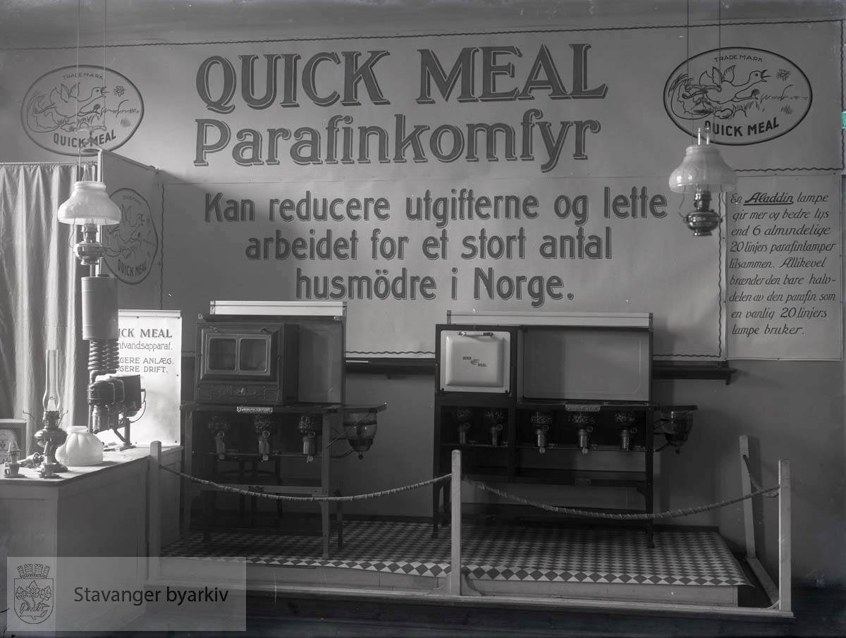 Reklame for Quick Meal Parafinkomfyr