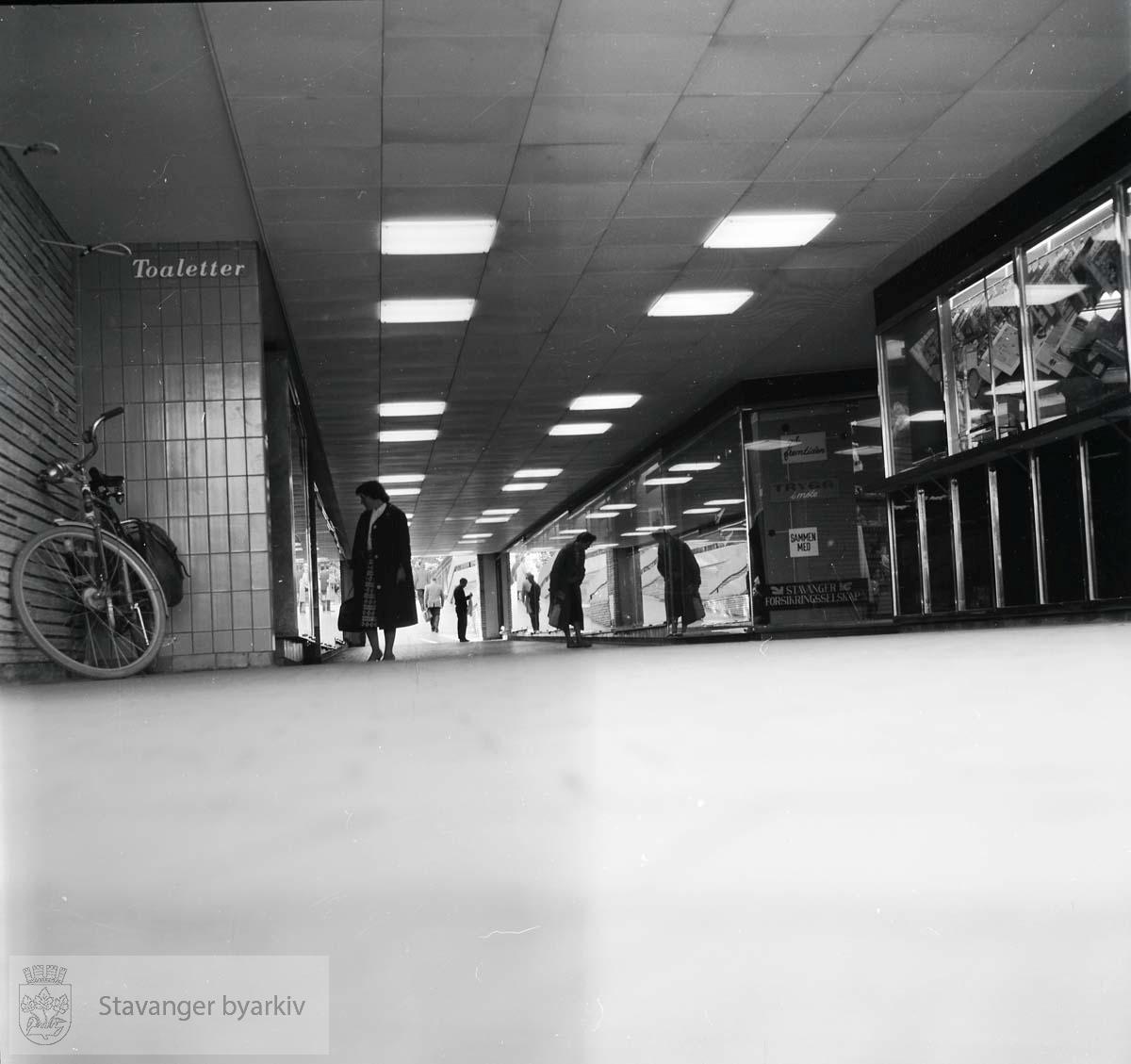 Den nyåpnede undergangen ved Torget