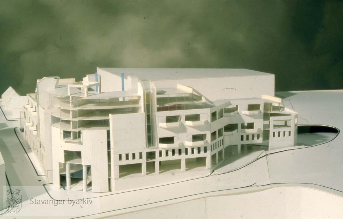 Modell av Bjergsted Terrasse
