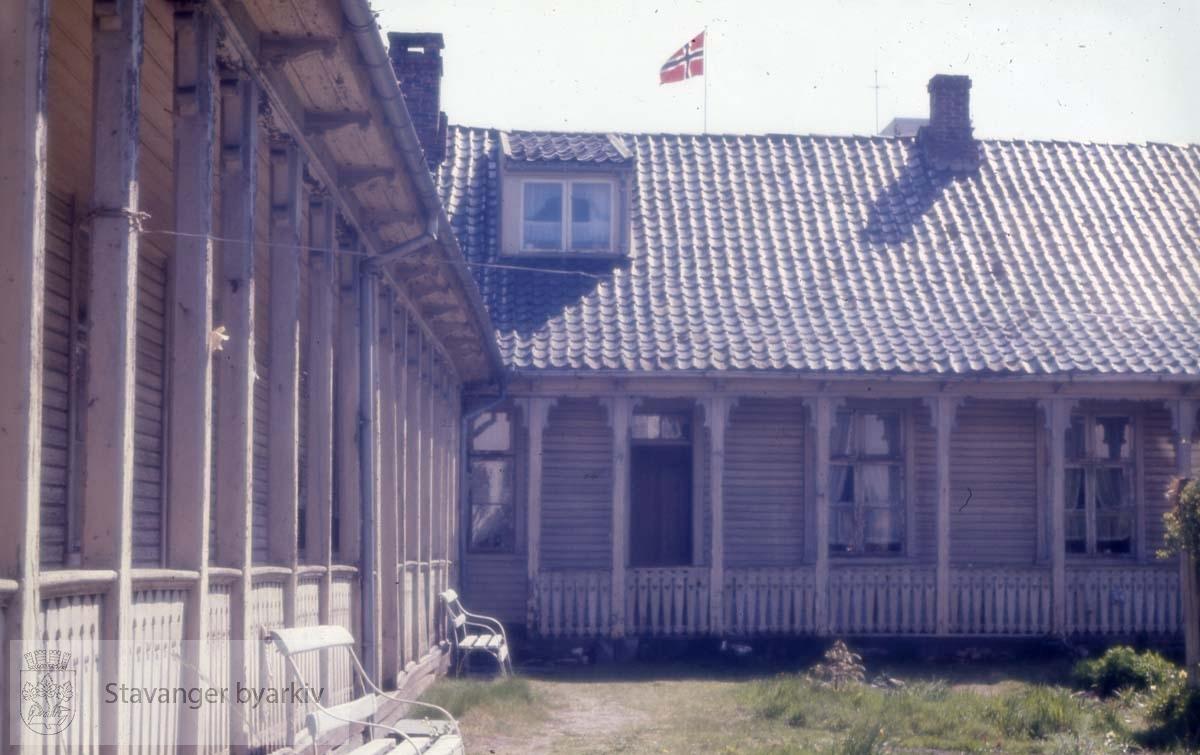 Gårdsrommet til Frøkenstiftelsen /Jomfrustiftelsen på Løkkeveien