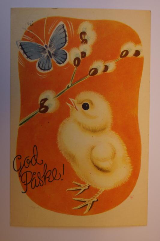 Påskekort fra Glomdalsmuseets samling