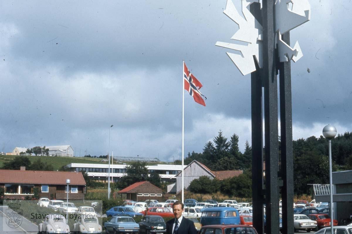 Stavanger Lærerhøgskole. Bildet er tatt mot nord - Økologisk gård