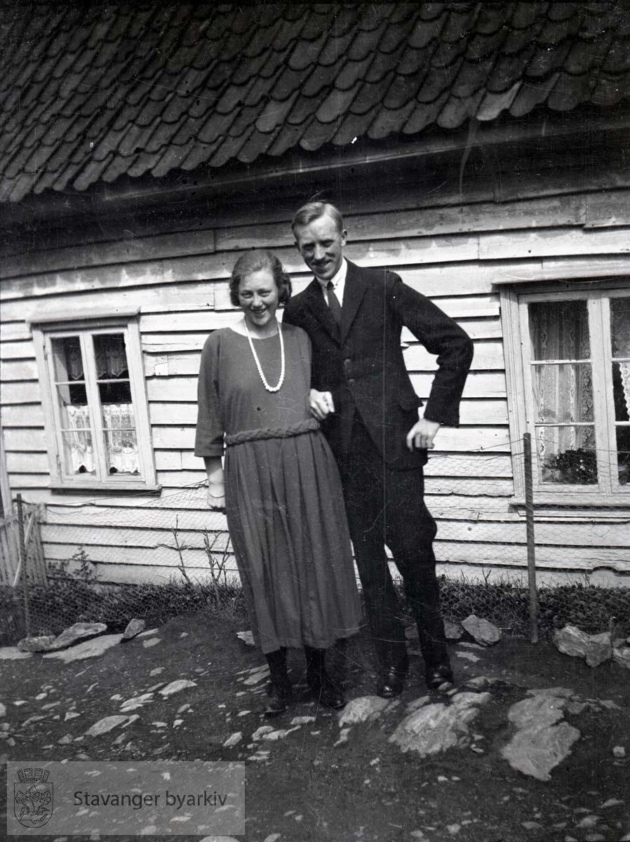 Ellinor og Oscar Iversen.Muligens Østre bydel / Blåsenborgområdet?