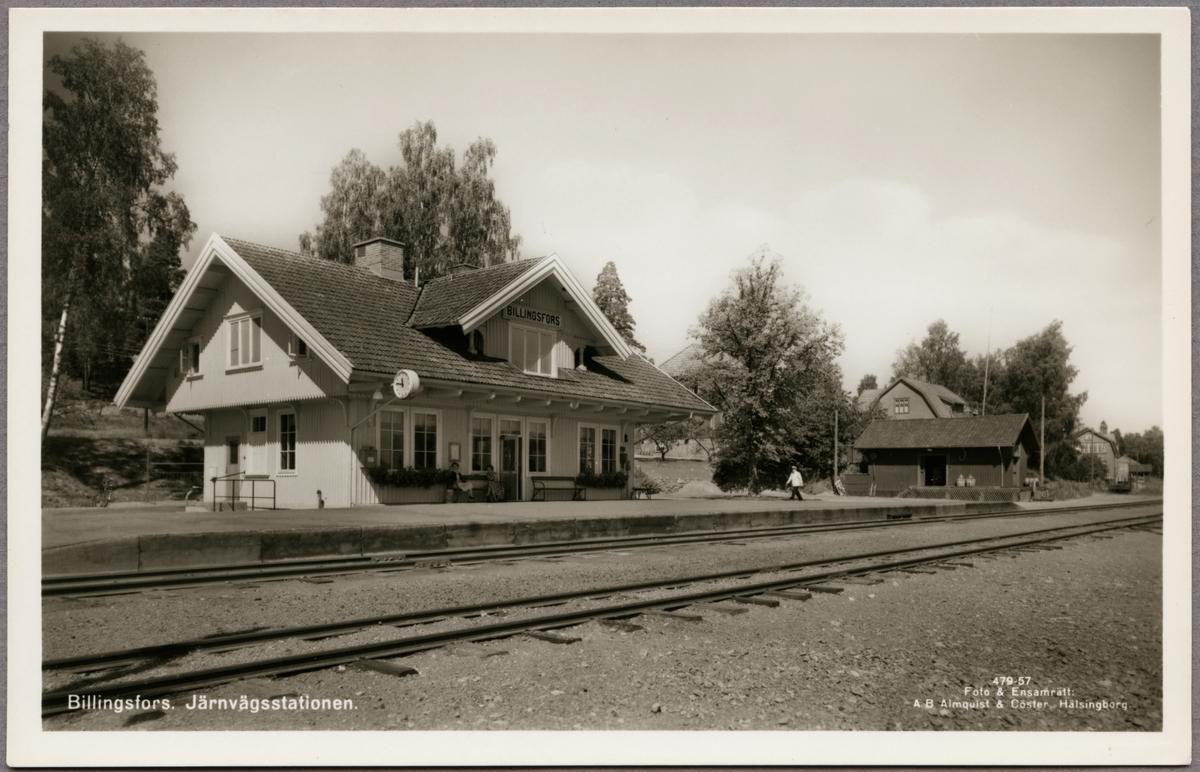 Billingsfors. Järnvägsstation.