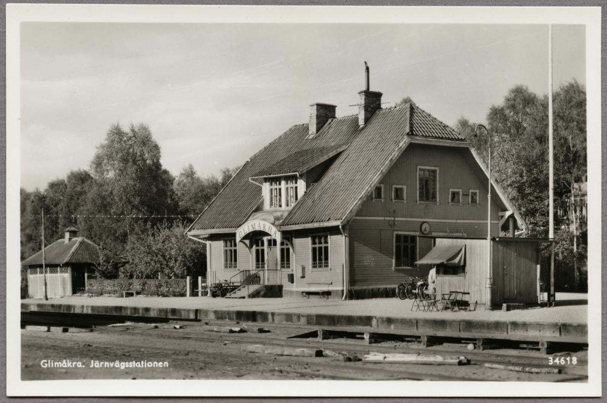 Stationen i Glimåkra.