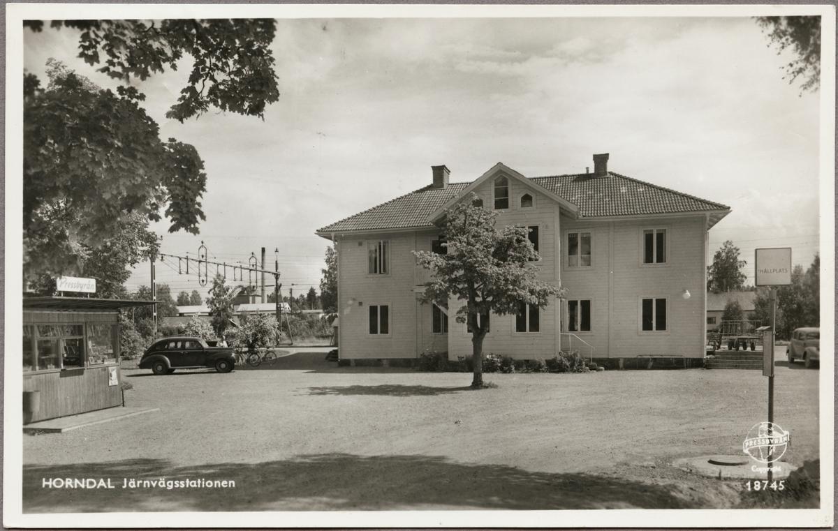 Järnvägsstationen i Horndal.