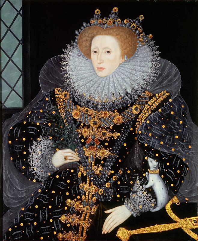 Elisabeth I, «jomfrudronningen av England». Av anonym (Wikimedia commons )