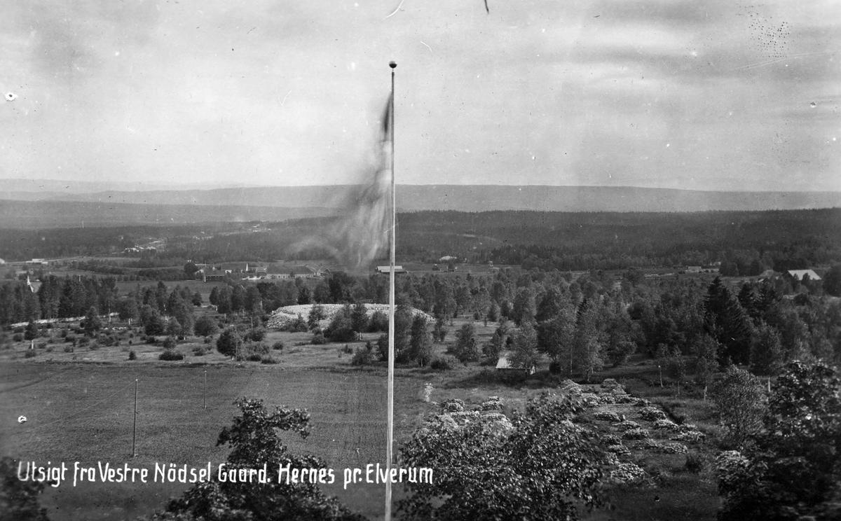 Utsikt fra Nødsel vestre 1920,Hernes.Postkort.