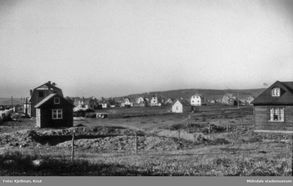 Kåkstaden på Solängen i Mölndal, omkring år 1920. AF 9:21.