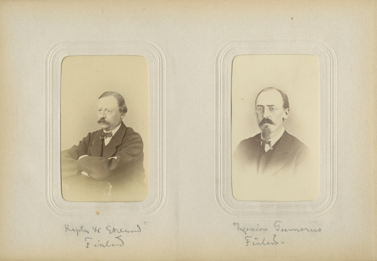 Porträtt av kapten Wilhelm Eklund, Finland.