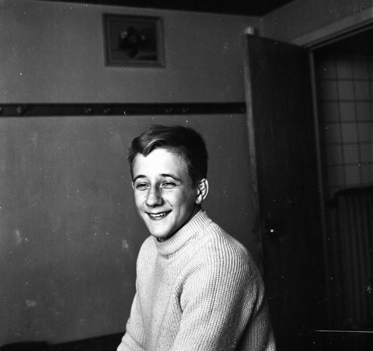 """Jan Nyberg (""""Pyrre""""). Brottare. Porträtt av ung man."""