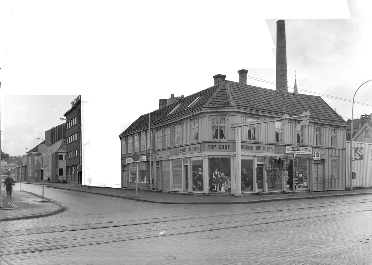Bebyggelse i krysset Erling Skakkes gate og Prinsens gate