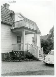 Västerås, Kristiansborg. Villa, kvarteret Gesällen 1, veran