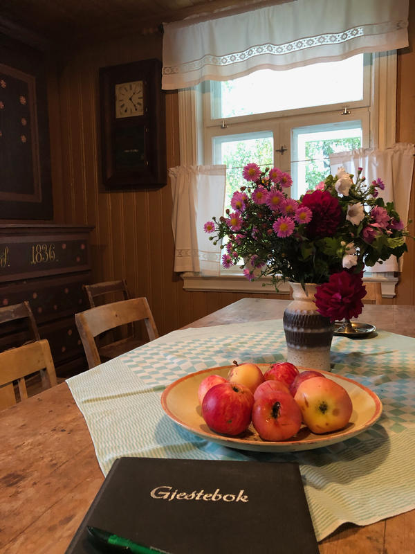 Kjøkkenet i Sagstua skolemuseum, Sigurd Hoels barndomshjem