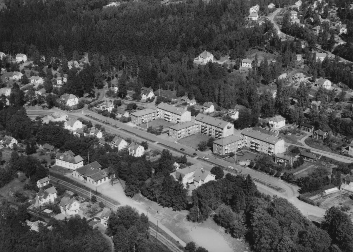 Flygfoto över Norrahammar i Jönköpings kommun.  Nr: 258/1959