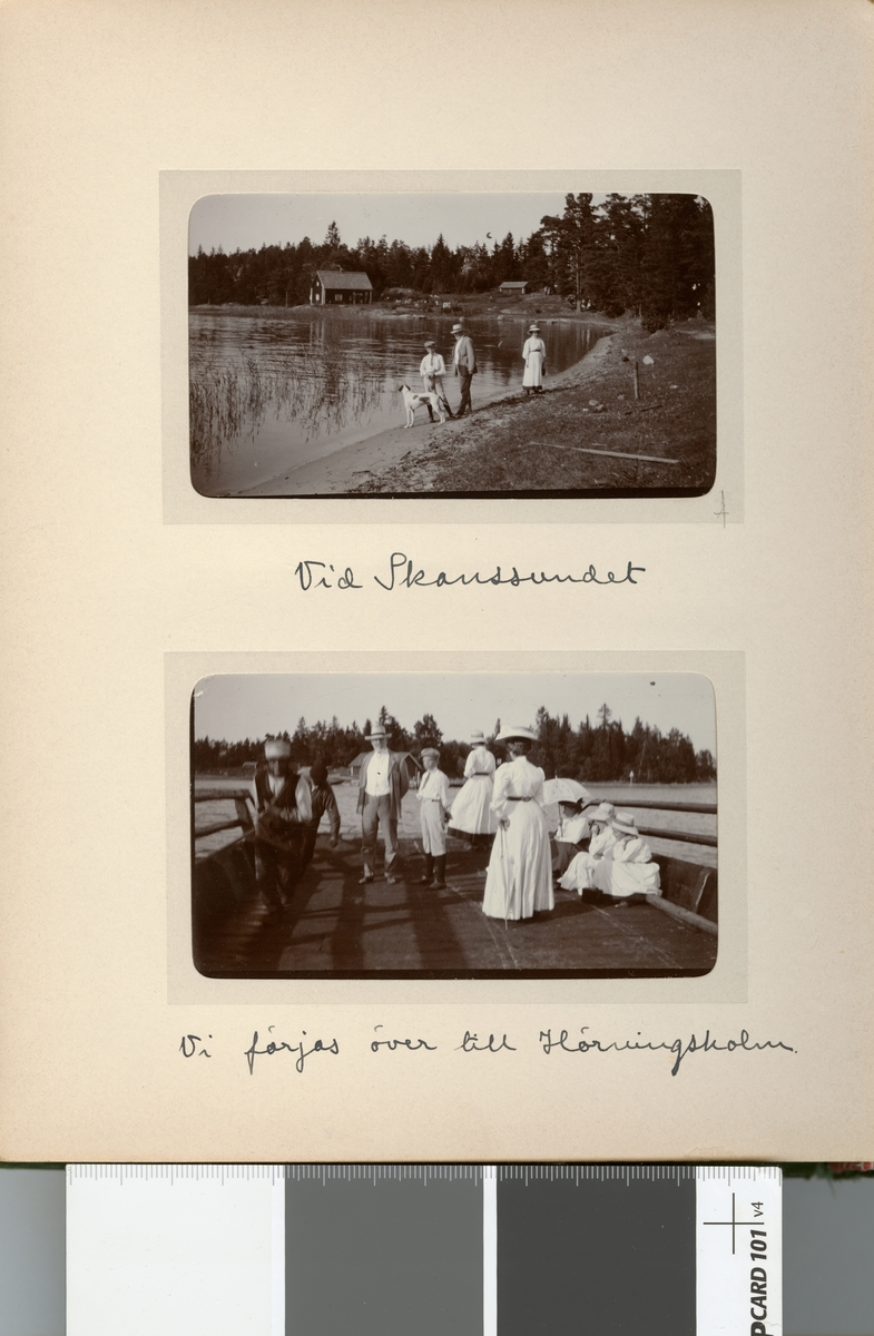 På färjan över till Hörningsholm.