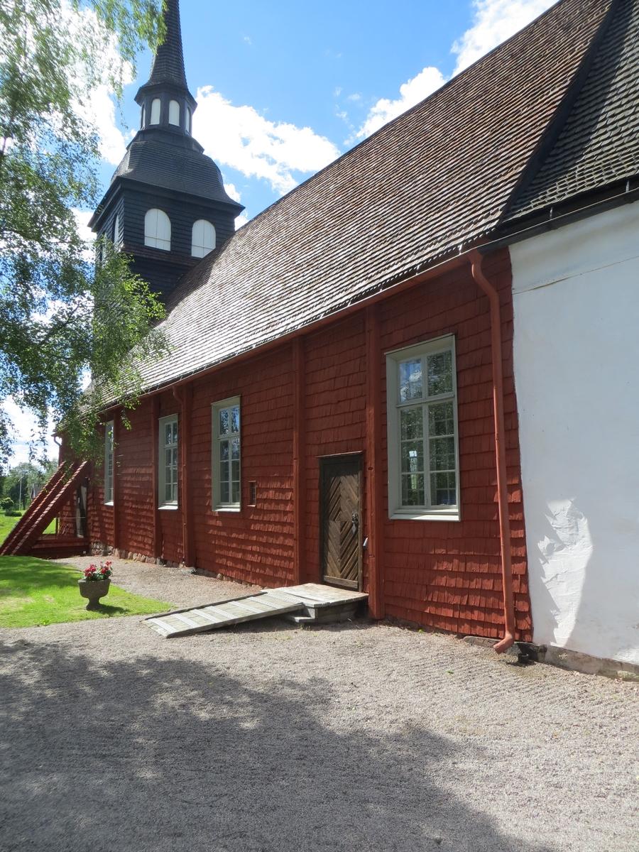 Exteriör, Vireda kyrka i Aneby kommun.
