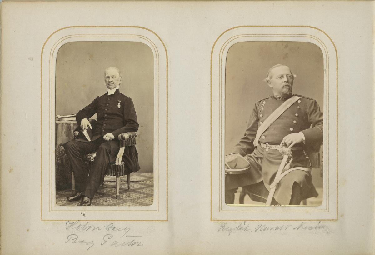 Porträtt av Nils Samuel Loenbom, regementspastor vid Andra livgrenadjärregementet I 5.  Se även bild AMA.0001879 och AMA.0001942.
