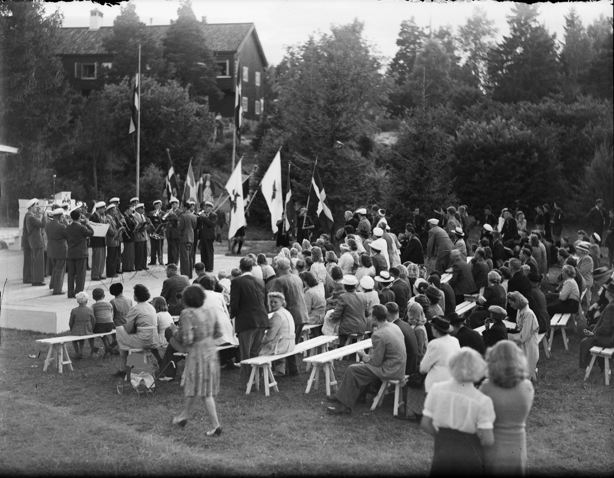 Högtidsfirande - IOGT vid Gammelhus, Östhammar, Uppland