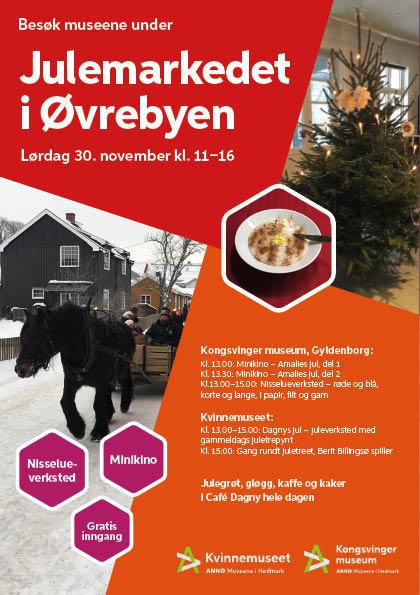 Plakat, Julemarked i Øvrebyen 2019 (Foto/Photo)
