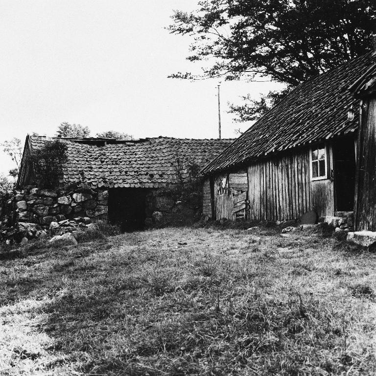 Uthusbygningane på garden Brylte, Helland øvre. Sjå også 1990.1TIM.1.060 - .065