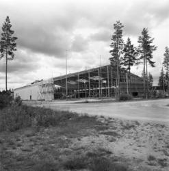 Bygget av isladan i Timrå.
