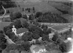 Flygfoto över Voxtorps kyrka i Värnamo kommun i Jönköpings l