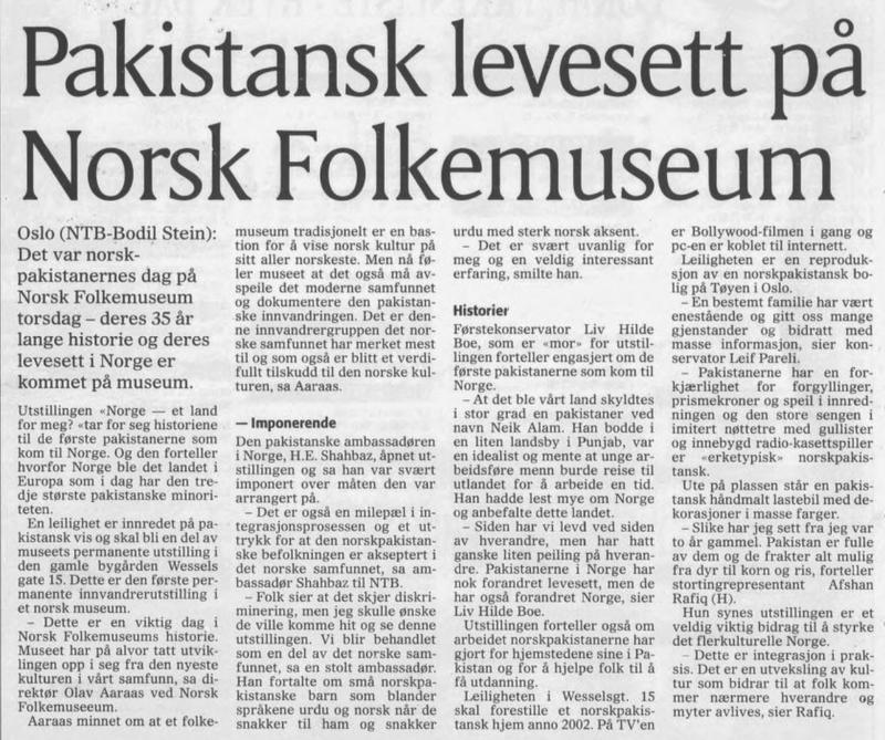 Avisartikkel (Foto/Photo)