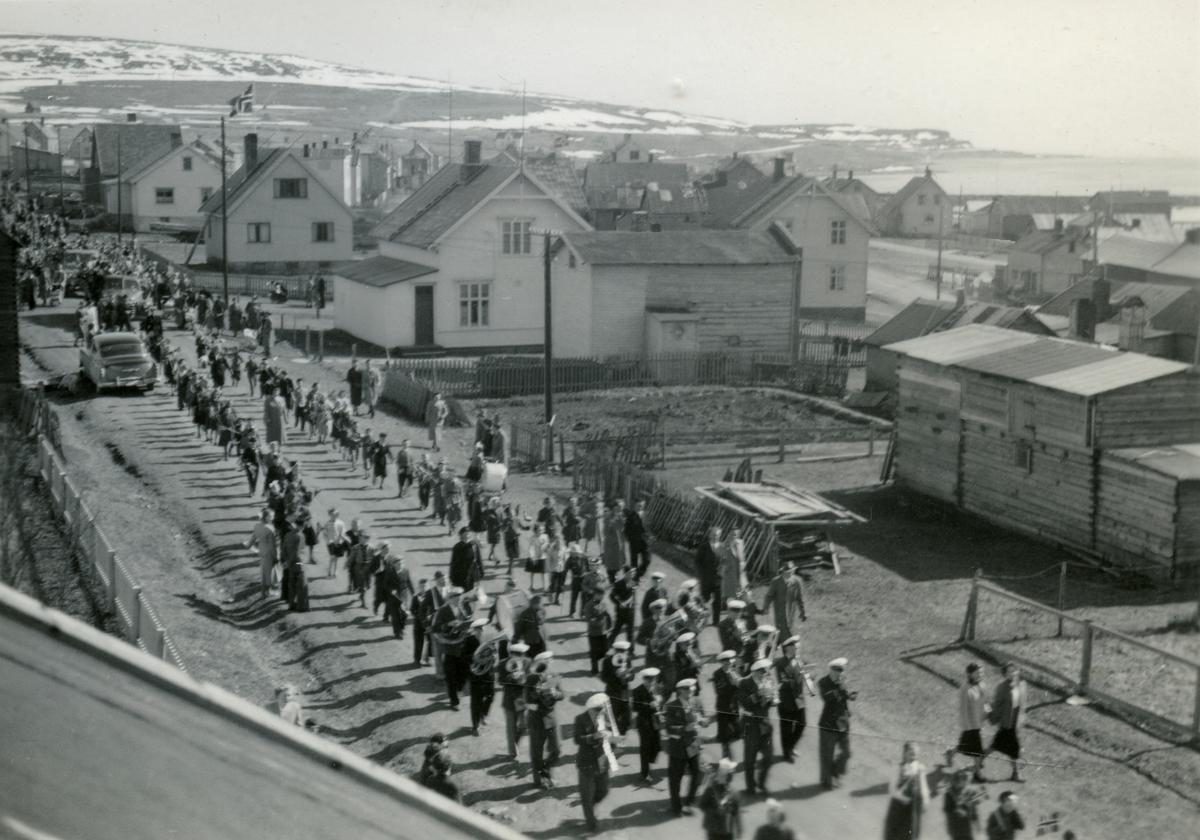 17.mai toget i Vadsø, 1948.
