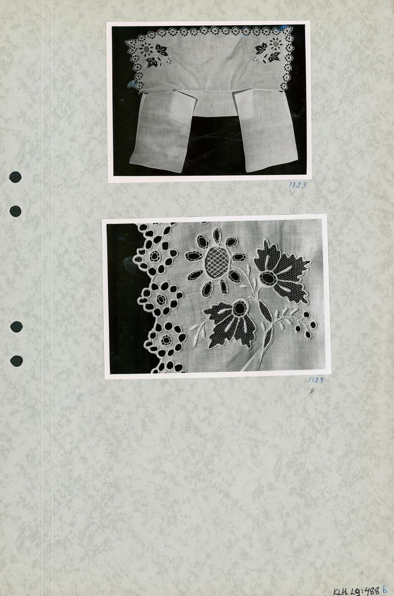Kartongark med två foton av löskrage.