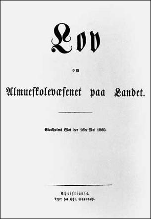 Skoleloven av 1860 revolusjonerte skolen på mange områder.