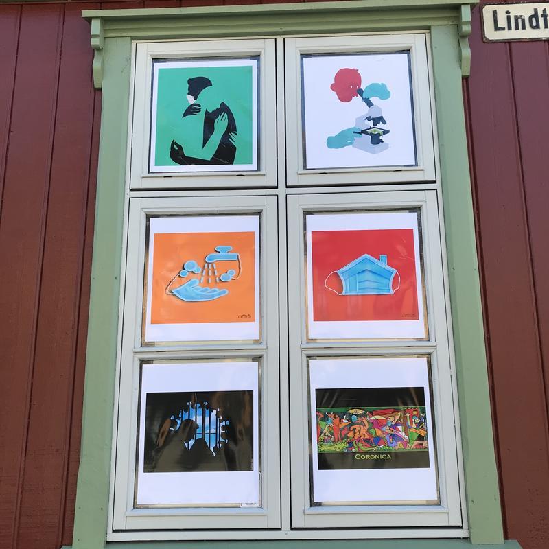 Tegninger av Åge Peterson, Ørjan Jensen, Ahmed Falah og FadiToon (Foto/Photo)